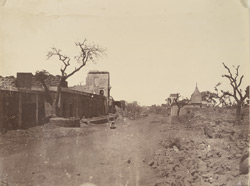 [View of ruined buildings in] Subzee Mundee [Subzi Mandi], Delhi.